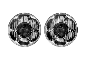 "The Gravity® LED Pro 7"" headlight uses KC's newly patented Gravity® Projector Orb (GPO) optic."