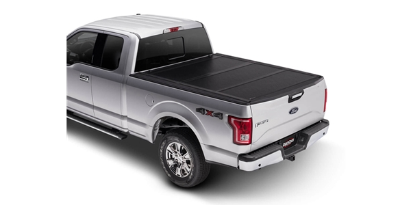 The UnderCover Flex is a hard folding truck bed cover that gives you the ultimate control of your truck bed, offering three secure riding positions.