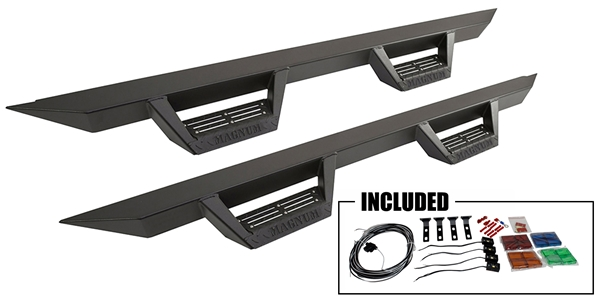 Magnum RT Steps are the newest and most unique Truck Side Step Bars.