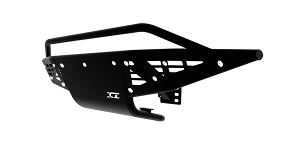 The Baja Front Bumper is a pre-runner inspired design that feature a tubular style bumper that integrates aluminum paneling with aluminum custom washers and stainless-steel mounting hardware.
