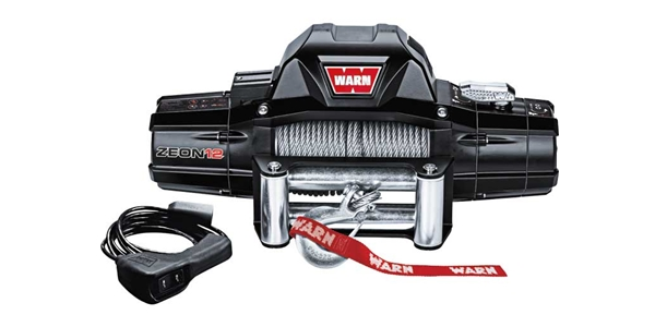 Warn's universal Zeon™ 12,000 lbs electric winch with wire rope has a 12,000 lb. pulling capacity and fast line speed, making it powerful enough for just about any job