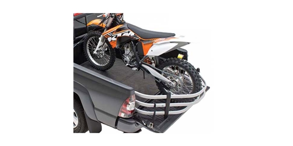 The AMP Research BedXTender HD Moto uses a slant-back design that lets you haul even more.