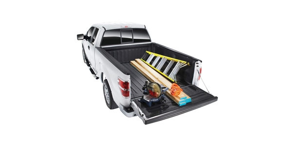 The BedTred Ultra system is a 4-piece zipped liner that installs with hook and loop fasteners, without damaging the truck bed.